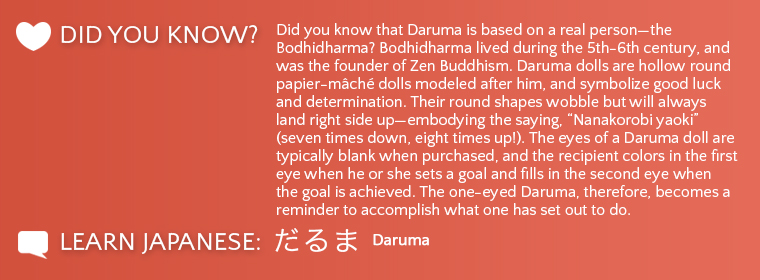 Daruma Did you know?