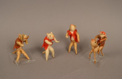 AB 32 a-d Miniature Samurai Animals
