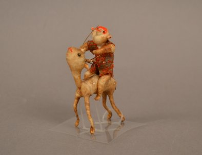 AB 32 c Miniature Samurai Monkey on Deer