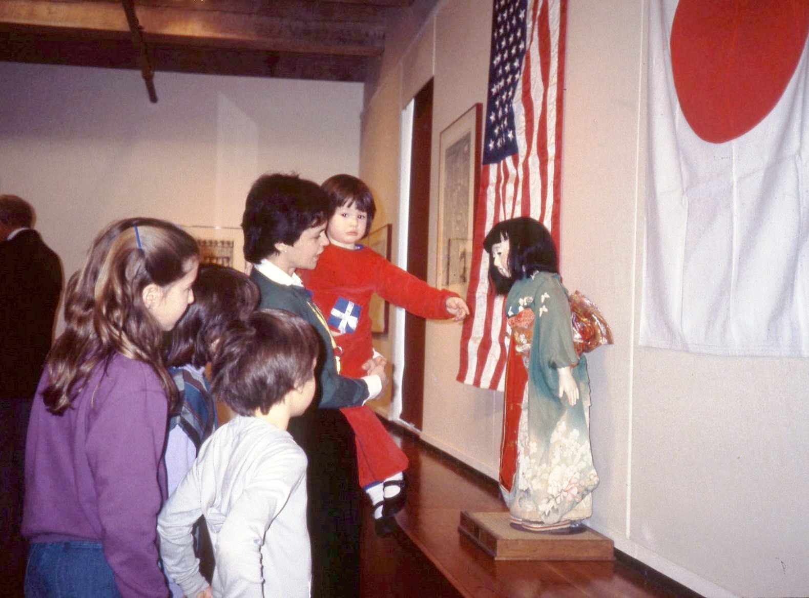 1984.March_.Miss K goodbye Farewell Exhibit showing